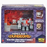 Minecraft Dungeons Redstone Monstrosity Mangle Co-Op Edition with Hex, Wolf, Iron Golem Mini Figures