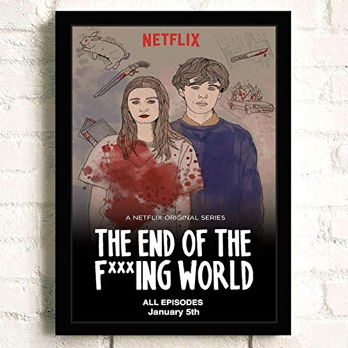 lubenwei The End of the F***ing World Movie HD Star Wall Art Home Decor Canvas Painting Art Nordic Decoration Room Poster 40x60cm No frame (WA-502)