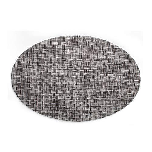 Funhouse - Juego de 4 manteles Individuales de PVC con Forma Ovalada, 45 x 30 cm, Resistentes al Calor, Lavables, para Mesa de Comedor, Cocina, Calentamiento de la casa