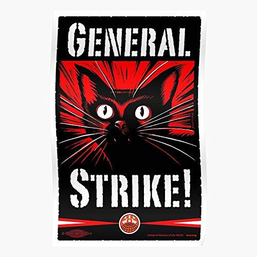 sommelier Union Workers Anarchist One Strike Unionism Iww Anarchy General Rights Big Das eindrucksvollste und stilvollste Poster für Innendekoration, das derzeit erhältlich ist