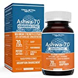Ashwagandha Extract - 35% Withanolides Concentration, Maximum Strength, Most Potent Available - 70 mg Withanolides per Capsule | Max Absorption with BioPerine Black Pepper (60 Capsules)