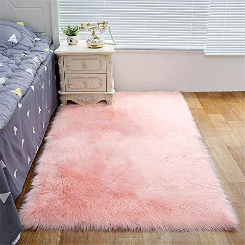 WBDYMX Moderne woonkamer, zacht tapijt, rechthoekige, lichtbestendige bol met een dikte van 5 tot 6 cm, voor de slaapkamer in de woonkamer op bed