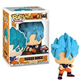 Lotoy Funko Pop Animation : Dragon Ball Super - Ssgss Goku (Exclusive) 3.75inch Vinyl Gift for Anime...