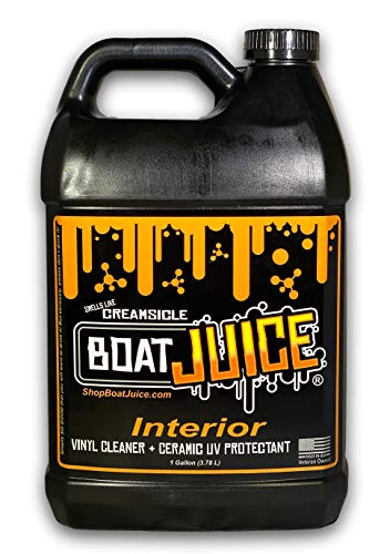 Boat Juice - 1 gallon jug - Interior Cleaner with SiO2 Ceramic UV protectant - Works Great on Upholstery, Vinyl, Plastic, Foam Flooring and Carpets