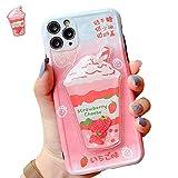 SGVAHY Funda líquida para iPhone 7/8/SE2, diseño de fresas y perlas en 3D, diseño de té de arena movediza, a prueba de golpes, funda protectora (fresa, iPhone 7/8/SE2)