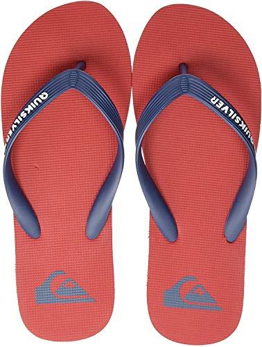 Quiksilver Molokai, Scarpe da Spiaggia e Piscina Uomo, Multicolore (Red/Blue/Red Xrbr), 46 EU