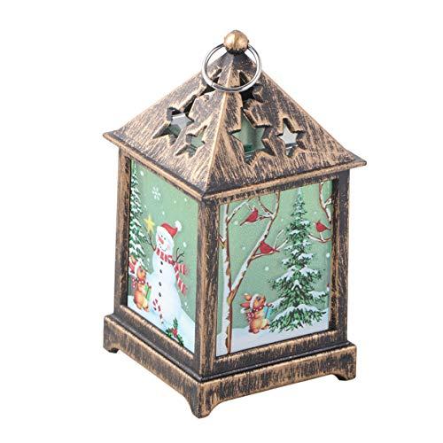 Vosarea retro navidad linterna navidad mesa noche lámpara navidad escritorio adorno