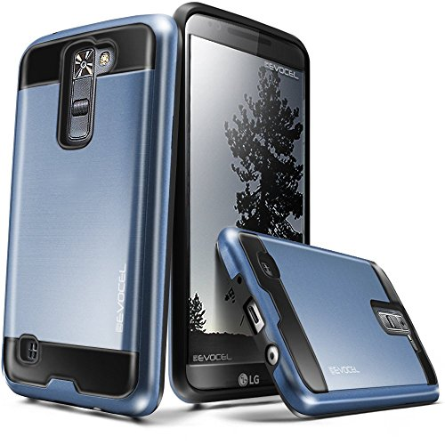 Evocel Hybrid Lite Series Phone Case Compatible with K7 / Tribute 5 with Slim Profile and Brushed Metal Texture, Navy