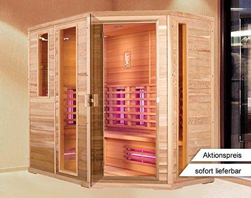 Infrarood cabine | Infrarood | Warmtecabine | Infrarood sauna | Sauna 210 x 140 I rechts hemlock hout, spot type: Dual spots
