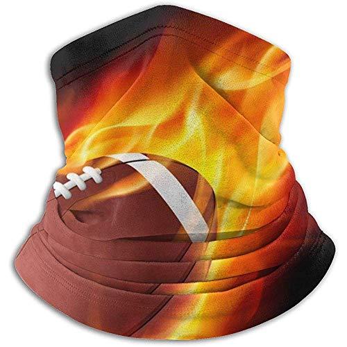 Fire American Football Nackenschutz Gesichtsmaske Bandana Nahtloses Stirnband