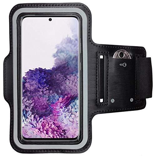 CoverKingz Sportarmband für Samsung Galaxy S20 - Armtasche mit Schlüsselfach Galaxy S20 - Sport Laufarmband Handy Armband Schwarz