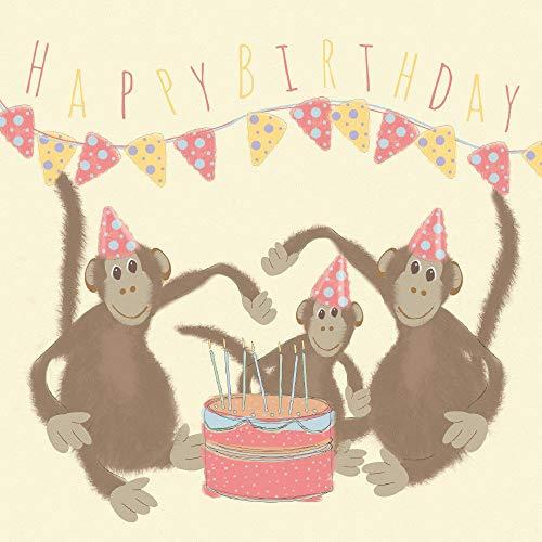 Aap Gelukkige Verjaardagskaart