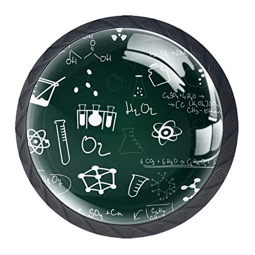 4 tiradores redondos de cristal transparente para cajones con tornillos para cocina,...