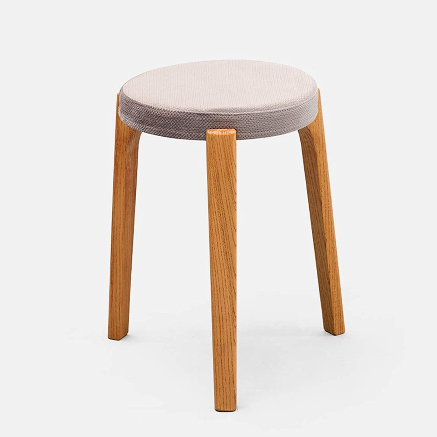 Creative Small Stool Solid Wooden Dining Stool, Square Stool, Dressing Stool, Simple Fashionable Dressing Stool, Bench, Household Stool 7 GMING (color   Wood)