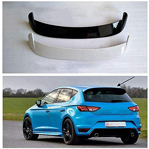 ZDZHT Alerón Trasero Spoiler de ABS para Seat Leon MK3 5F 2012-2020, Accesorios de Modificación del Alerón del Maletero, Duradero, Brillante(Black)