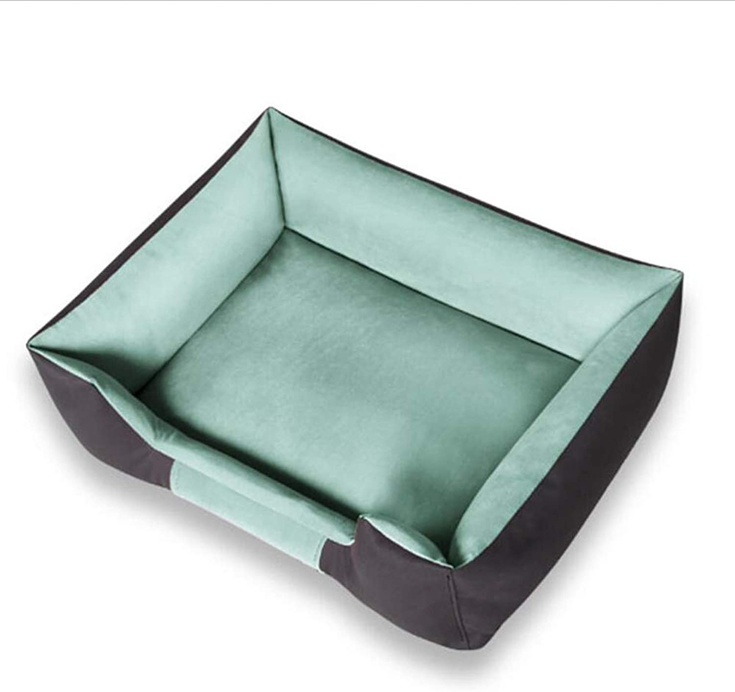 Pet Bed Pet Sofa Cat Nest Pet Nest Dog Nest Cat Kennel Kennel Removable Washable Warm Autumn Winter Durable Large Small Pet Haiming (color   Green, Size   S)