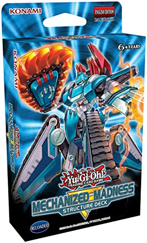 Yu-Gi-Oh! Trading Cards: Mechanized Madness Structure Deck- 42 Cards Total | 3 Super Rares, 2 Ultra Rares, 1 Double Sided Deluxe Game Mat Dueling Guide, Multicolor (083717848868)