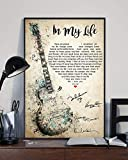 HolyShirts in My Life There are Places I Remember Poster (24 inches x 36 inches)
