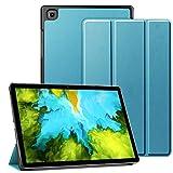 AMOYE Hülle für Samsung Galaxy Tab A7 Hülle, Galaxy A7 Hülle Dreifach Falt Klapp Schutzhülle Hülle Standfunktion Auto Schlaf/Wach SM-T500/505(Blau)