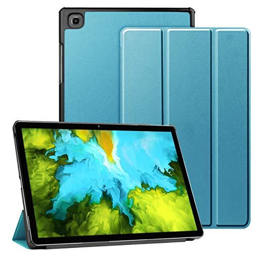 AMOYE Hülle für Samsung Galaxy Tab A7 Hülle, Galaxy A7 Hülle Dreifach Falt Klapp Schutzhülle Case Standfunktion Auto Schlaf/Wach SM-T500/505(Blau)