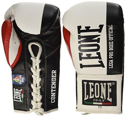 León 1947 Contender Cordones, Guantes de Boxeo Unisex-Adulto, Unisex Adulto, GN049L, Bianco, 8 oz