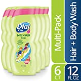 Dial Kids Body & Hair Wash, Watery Melon, 12 Fluid Ounces (Pack of 6)