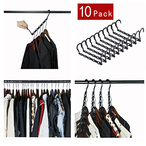Cascading Hanger Organizer for Clothing WardrobeCloset Space Hanger Organizer Saver Pack of 10 Pack with Sturdy Plastic Hanger Clothes Hangers Organizer for Heavy ClothesTrouser Jeans Etc