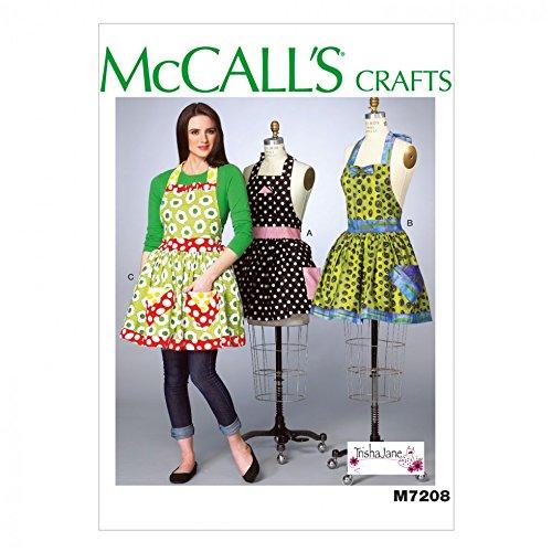 McCall 's Damen Schnittmuster 7208Schürzen & Petticoat + Gratis Minerva Crafts Craft Guide