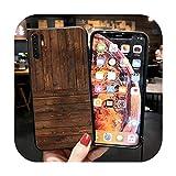 Coque en silicone grain de bois pour Huawei Y5 Y6 Y7 Y9 Prime 2018 2019 Y6P Y7A Y9A Cases Matte...