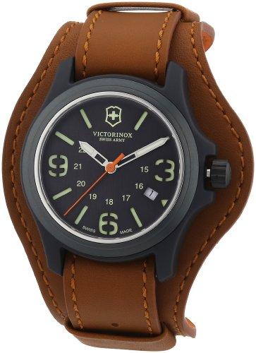 Victorinox Swiss Army Original 241593 - Reloj analógico de Cuarzo para Hombre, Correa de Cuero Color marrón (Agujas luminiscentes)