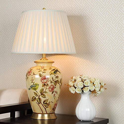 Chambre Lampe, Lampe à Poser, Lampe De Table En Céramique Nouvelle Lampe Chinoise Table Cuivre Classique Salon