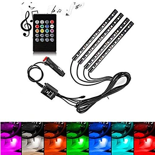 Our #3 Pick is the Henlight Car LED Strip Lights Interior Lights Kit