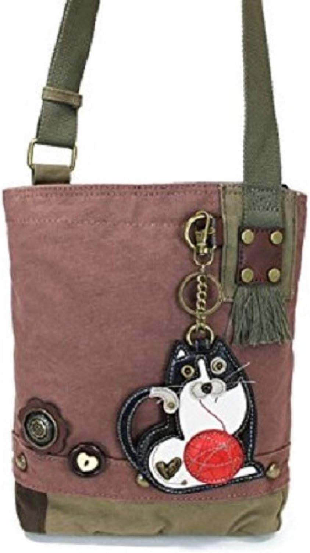 Chala Fat Cat Patch Crossbody Bag, Mauve