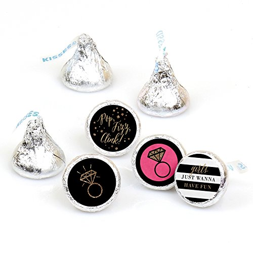 Girls Night Out - Bachelorette Party Round Candy Sticker Favors - Labels Fit Hershey's Kisses (1 Sheet of 108)