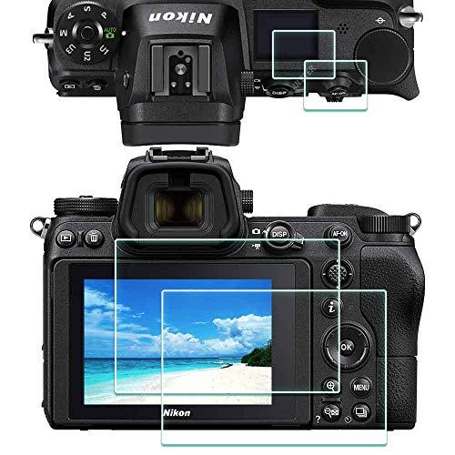 Z6 Z7 OBEN + Bildschirmschutzfolie Schutzfolie für Nikon Z7/Z6 Kamera,ULBTER 9H Festigkeit LCD Gehärtetes Glas,[2+2 Stück]
