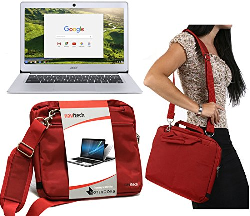 Navitech Rotes Prime Case/Cover Trage Tasche für das Acer Aspire R3-131T / Acer Aspire E3-111-C1BW
