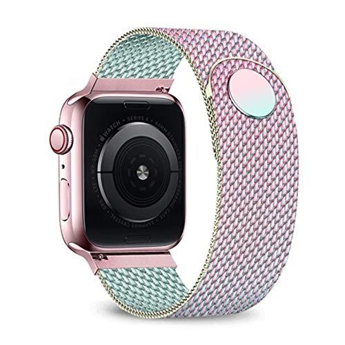 TKPOLD 2021, Correa de Bucle de Milanese para Apple Watch 6 Band 44mm 42mm 40mm 38mm Pulsera de Acero Inoxidable Banda de Reloj para iWatch Series 6 SE 5 4 3 2