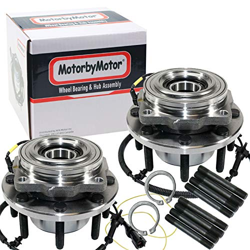 (4WD) Front Wheel Bearing & Hub Assembly Fits 2005-2010 Ford F-250 F-350, 2010 Ford F-450 F-550 Super Duty Hub Bearing(2 Pack) w/ABS, 8 Lugs, 4x4-515081(Fit Single Rear Wheel)