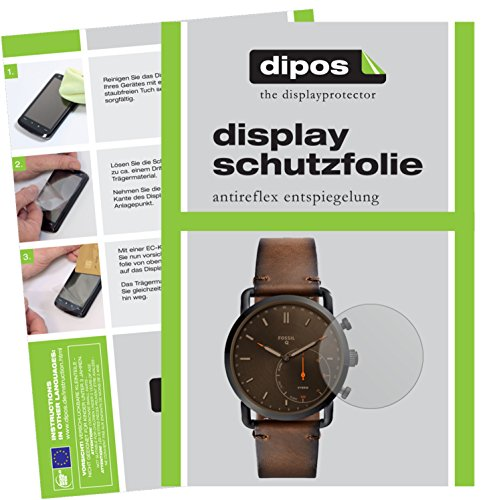 dipos I 6X Schutzfolie matt kompatibel mit Fossil Q Commuter Folie Bildschirmschutzfolie