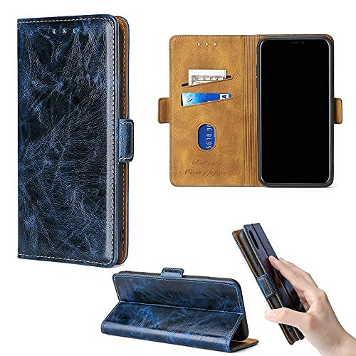 ROUENWCK Flip Case para Airis TM551Q Funda teléfono soporte cubierta [azul]