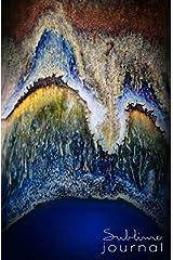 Sublime Journal: Copper Agate - blue close up Paperback