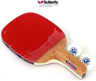 Butterfly PAN ASIA P10 Table Tennis Racket Penholder Paddle Racket & Ball 2 (pcs)