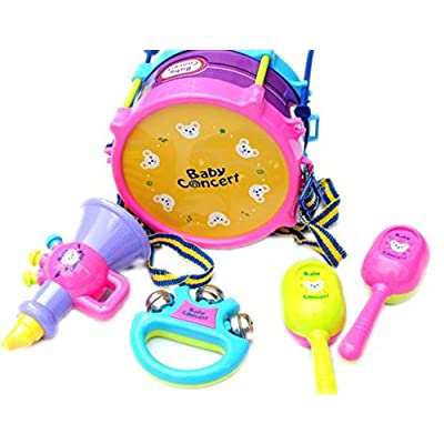 Amazon - Save 80%: 5pcs Kids Drums Toys Set, Baby Roll Drum Musical Instruments Band Kit Chil…