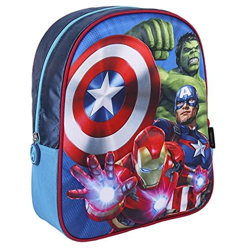 CERDÁ LIFE'S LITTLE MOMENTS 2100003422, Asilo Bambino   Zaino con 3D di Avengers-Licenza Ufficiale Marvel, Rosso, Taglia Unica