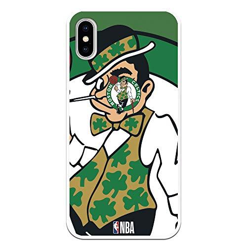 Personalaizer Custodia per iPhone X/XS di NBA Los Angeles Lakers, Golden State Warriors, New York Knicks, Chicago Bulls, Cleveland Cavaliers, Boston Celtics, San Antonio Spurs, Dallas Mavericks