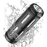 Enceinte Bluetooth Portable, 30 Heures De Lecture, 5200mAh Power bank, Enceinte Bluetooth, Lumière LED, étanche IPX67, alexa Enceinte Connectée Très utile pour Lors balades à vélo en Solitaire