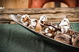MichaelNoll Dekoteller Schale Servierplatte Schiffchen Aluminium Silber Luxus - Moderne Dekoschale länglich aus Metall - Tischdeko - Dekoration für Wohnzimmer, Esszimmer oder Küche - XXL 80 cm - 6