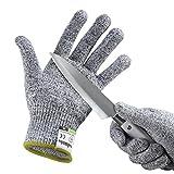 yokamira Guantes Anticorte, Guantes Resistentes a Los Cortes Nivel 5 Seguridad para Cocina Trabajo Mecanico y Jardín - Guantes Resistentes al Corte de Proteccion Certificación EN 388, 1 Par