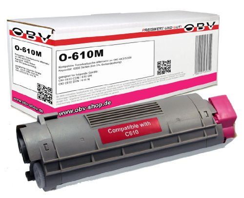 Kompatibler Toner ersetzt OKI 44315306 für OKI C610 magenta 6000 Seiten