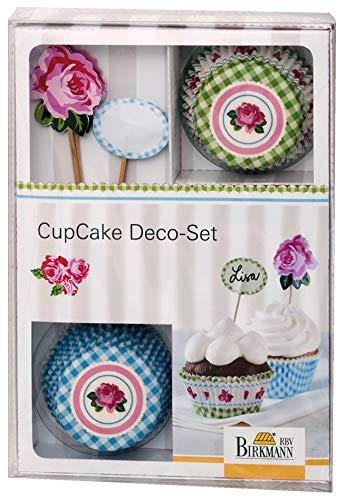 Birkmann 441118 Cupcake Deco-Set Rose